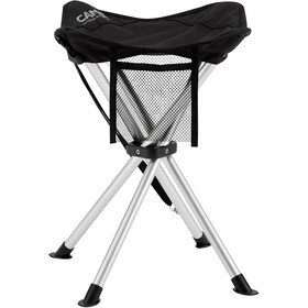 CAMPZ Aluminium 4 Legs Folding Stool, black